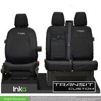 Ford Transit Custom MY2012-2021 INKA Tailored Waterproof Front Seat Covers Black