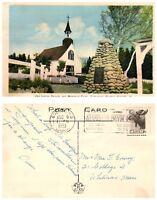 CANADA Postcard - Quebec, Tadoussac, Old Indian Church Memorial Cairn (B18)