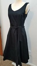 ESPIRIT WOMENS SZ 6 BLACK 100% COTTON SLEEVELESS A LINE DRESS CRINOLINE