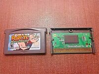 Nintendo Game Boy Advance GBA Cartridge Only Tested Popeye Rush for Spinach