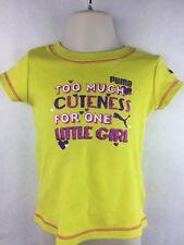 Girl's Puma Sport Lifestyle Yellow Cuteness Snap Shirt Size 24 Months
