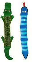 "Top Paw® Tuff Firehose - SET OF (2) Gator & Blue Snake XL 24""-25"" Dog Chew Toys"