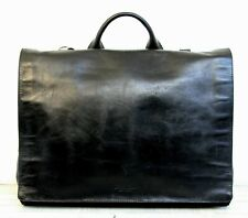 Kenneth Cole BLACK GENUINE LEATHER BUSINESS SHOULDER BAG LAPTOP BRIEFCASE X-BODY