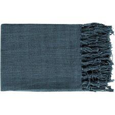Tilda by Surya Throw Blanket, Navy - TID001-5951