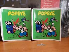 Nintendo Popeye table top  game and watch side art decals. New. Decals only!