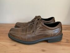 Ecco Helsinki Men's Brown Leather Bike Toe Shoes EUR 45 US 11-11.5 Retail $150