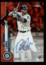 TIM LOPES /25 $250++ ROOKIE AUTO ORANGE REFRACTOR RC 2020 TOPPS CHROME AUTOGRAPH