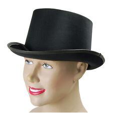 TOP HAT BLACK SATIN FANCY DRESS ADULT