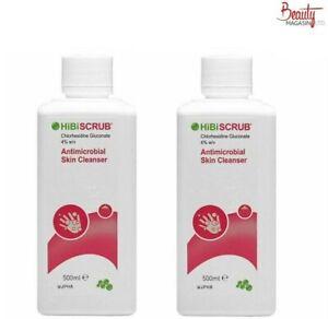 2 X Hibiscrub Antibacterial Skin Cleanser 500ml