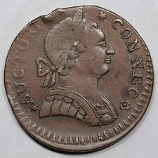 1788 5-B.2 R-5 No Visible Under-type Connecticut Colonial Copper Coin
