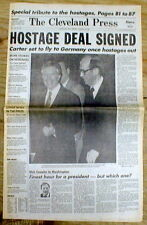 BEST 1981 headline newspaper US & IRAN COME TO A DEAL on RELEASE of the HOSTAGES