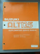 1986 Suzuki ALT125 Supplementary Service Manual 99501-41100-01E