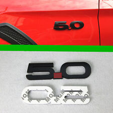 5.0L Black 3D ABS Chromed Car Emblem Badge Decal for Ford Mustang GT F150 Coyote