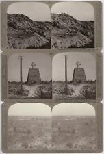 Vimy Ridge France 3 WW1 Military Stereoview Stereocard Canadian Military Battle