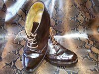Stivaletti Caviglia Allacciati Scarpe Uomo Aigle 45 Marrone Pelle Men Shoes