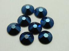 34ss METALLIC BLUE  HOTFIX swarovski rhinestones 12pcs
