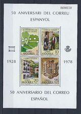 ANDORRA 1978 L Aniversario del Correo Español Ed. 116 HB