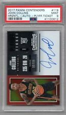 John Collins 2017-18 Contenders Playoff Ticket ROOKIE AUTO #13/35 - PSA 9 MINT