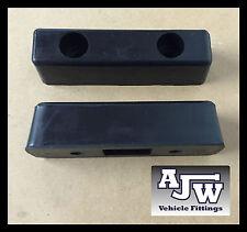 "2 Rubber Buffer 8"" x 2"" 200mm Truck Trailer Horsebox Tailboard HGV Bumper Boat"
