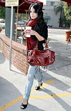 Rebecca Minkoff Wine Leather Matinee Vanessa Bag Hudgens Suede $625