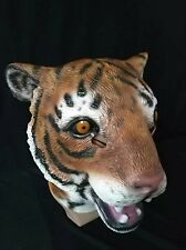 Animal Tiger Full Head Latex Mask Halloween Tricky Toy Cosplay Costume