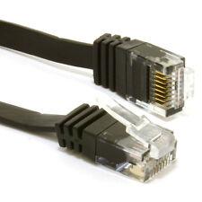 3m FLAT CAT6 Ethernet LAN Patch Cable Low Profile GIGABIT RJ45 BLACK [007210]