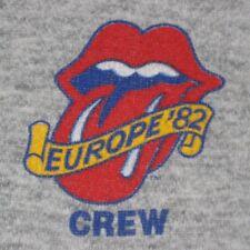 VTG ROLLING STONES EUROPE '82 TOUR CREW SWEATSHIRT SWEATER HOODIE 80S t-shirt
