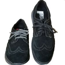 Sketchers Women's Black Suede Lace Up Casual Comfort Sneaker Oxford Size 8M