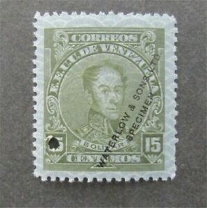 nystamps Venezuela Waterlow Color Proof Stamp MOGNH Only 100 Exist.    U11y1250