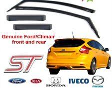 Nouveau! authentique Ford Focus ST 2011 sur CLIMAIR vent Déflecteurs d'air Avant + Arrière
