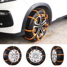 10Pcs Anti-skid Emergency Tire Wheel Chains Auto Car SUV Belting Straps Winter