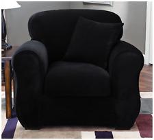 Sure Fit Stretch Pique 2 Piece Box Cushion Chair Slipcover Choose Color