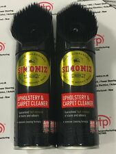 2 x Simoniz Car Upholstery Fabric & Carpet Cleaner Odour Remover 400ml SAPP0084A