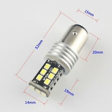 10Pcs Super White 12V 24V P21W 1156 BA15S 2835 15SMD Led Turn Tail Brake Light