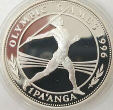 1996 Kingdom of Tonga 1 Pa'anga Silver proof coin Olympics