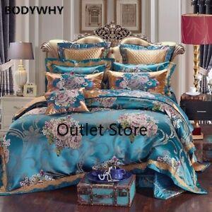 Luxurious Silk Jacquard Duvet Set Bedding Set  Pillowcase 4/6/9pcs Duvet Cover