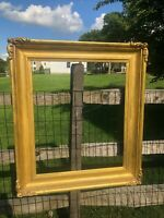 19th century large ornate Carved Gilt wood Frame - c1820s