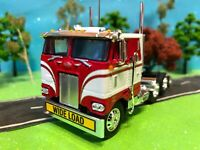 DCP 1/64 Candy Cane, Peterbilt 352 Sleeper, Cabover Flat-Top, Semi-Tractor, CB