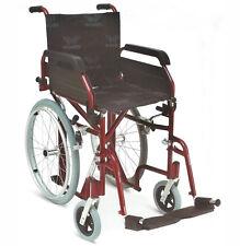 Carrozzina Pieghevole Ingombro ridotto 49,5 cm Sedia a Rotelle Disabili Anziani