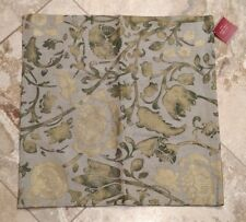 "POTTERY BARN ~ METALLIC FLORAL PILLOW COVER ~ 20"" x 20"""