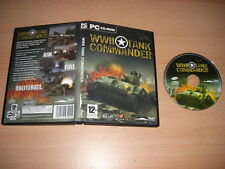 WWII Tank Commander  Pc Cd Rom WW World War II  - FAST POST