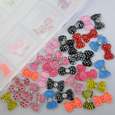 acrylic 3d jewelry resin bow tie design for nail art rhinestone decoration