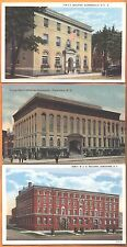 Lot of 3 YMCA Bldgs in upstate NY postcards - Gloversville Jamestown Watertown