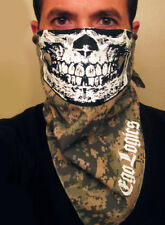 SKULL FACE US ARMY BANDANA DIGITAL CAMO MASK PAINTBALL ACU MARPAT MARINES SCARF