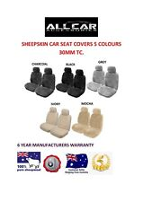 Sheepskin Car Seat Covers to fit Hyundai Accent Models  , Seat Airbag Safe, 30mm
