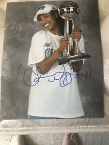 Candice Wiggins signed 8x10 Minnesota Lynx WNBA Basketball Autographed