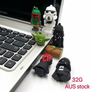 USB Flash Drive Star Wars Yoda Darth Vader Cute Giftbox 32GB memory Storage New