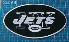 "NEW YORK JETS FOOTBALL NFL SUPERBOWL 10"" HUGE JERSEY LOGO PATCH SEW EMBROIDERED"