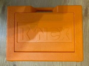 Genuine K'nex Orange Storage Box  40x30x12cm Hard Plastic Carry case EMPTY.