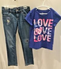 Set of 2 /Ch. Place Girls Top M (7/8) & Embellished Old Navy Jeans Sz 8
